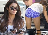 That's how she does it! Vanessa Hudgen's shows off her perfect posterior at Pilates