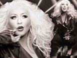 Feel the Eighties moment: Christina Aguilera shows off her smaller figure but bigger hair in Pitbull's new video