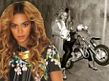 Revving it up! Beyonce takes her motorbike for a spirited ride and shares the picture with fans
