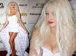 That's hardly Haute Couture! Courtney Stodden turns up to LA Fashion Week party in VERY revealing white bridal-style strapless dress