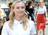 That's how to steal attention! Diane Kruger slips into eye-catching red leather skirt to sign autographs at The Host movie release