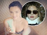 'Easing back into work': Miranda Kerr shared a picture from a Kora Organics shoot on Thursday