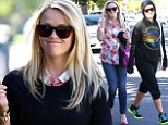 So that's how she does it! Reese Witherspoon fits in early morning gym trip before heading out looking her best