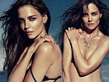 Katie Holmes peels off her bra to frolic on a sandy beach for high-end jewellery campaign