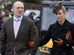 Optimistic: Zara Phillips and Mike Tindall at the Gloucestershire race course yesterday