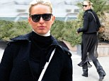Fresh off the runway! Karolina Kurkova takes high fashion to the city streets with her model strut to match