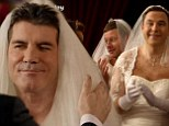 Simon Cowell marries himself as David Walliams, Olly Murs, Dermot O'Leary, Louis Walsh and Sharon Osbourne declare their love for him on Comic Relief