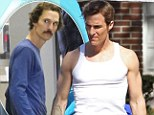 He's got his brawn back! Matthew McConaughey shows off muscular physique on set of his new TV show