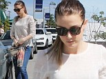 Stepping back in time: Amber Heard does vintage chic as she hops in her Mustang after grabbing a bite to eat