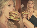 Is this the sexiest fast food advert ever? Semi-naked Heidi Klum seduces toy-boy with juicy burger in new Carl's Jr commercial