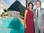 Mystery booking: Damon has spent £300,000 on the lavish week-long party at the luxury Sugar Beach resort in St Lucia
