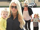 Ladies who lunch! Jessica Simpson carries daughter Maxwell to a lunch that¿s all about the Simpson women
