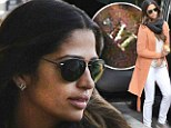 M for Matthew! M for Matthew! Camila Alves pays tribute to her husband Matthew McConaghey with monogrammed gold earrings