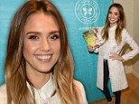 Living the honest life! Jessica Alba glows in white and gold as she promotes her new book about eco-conscious living