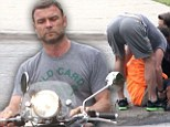 Liev Schreiber helped a woman who fell outside his home on Saturday