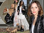 What a cute carry-on! Katharine McPhee totes around her two chihuahuas in her handbag as she arrives in Los Angeles to work on her music