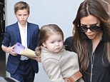 How does she find the time? Victoria Beckham takes Harper and Romeo to cheer on her niece in small village production