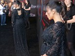 She's dazzling! Kim Kardashian dresses her bump in stunning lace as she makes her mark at screening of her first movie