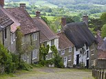 Cottages at Gold Hill, Shaftesbury, Dorset, England.