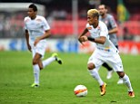 On the move: Neymar looked set to join Barcelona but could be swayed