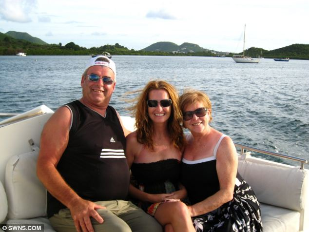 Lianne Burns with mother Vivienne Spooner and step-father Ian Spooner