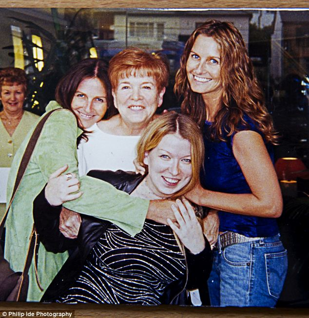 Close: Kim, foreground, with sister Lisa, left, mother Vivienne and Lianne, right