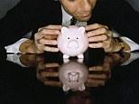Business man with a piggy bank