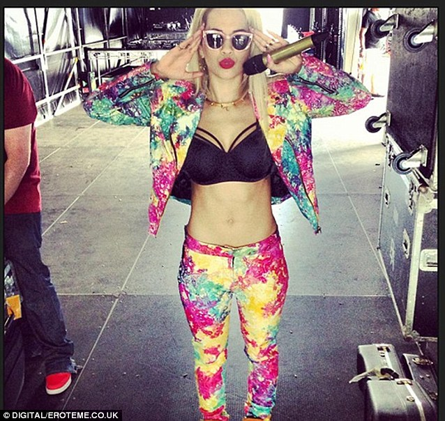 The ex: Rob said his weight gain was caused by heartache after his split with British singer Rita Ora
