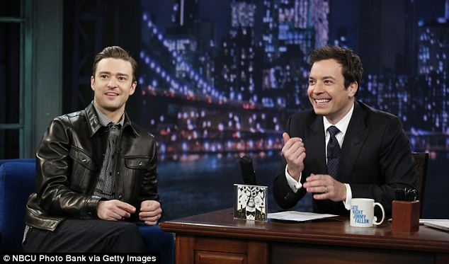 Young guns: Rumors have circulated that Jimmy Fallon (right), who is more popular with a younger demographic, will be asked to replace the aging Leno