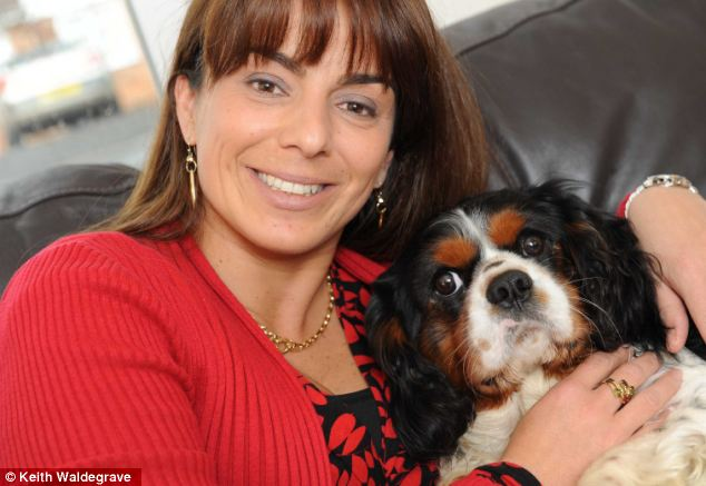 Owner Mafalda Clewlow and her King Charles spaniel Spot after the ordeal