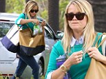 Reese Witherspoon snacking in Brentwood, California on Monday