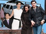 My how you have grown! Jennifer Connelly is dwarfed by her teenage son as they walk through New York