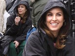 Smoking hot! Stunning Noomi Rapace puffs on cigarette during filming break on Animal Rescue set in the Big Apple
