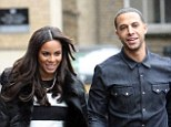 Doting husband: Marvin Humes stuck close to pregnant wife Rochelle as she joined the Saturdays for an appearance on Sunday Brunch