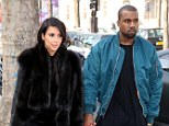Support: Kanye West surprised pregnant girlfriend Kim Kardashian at the screening of her new film in Atlanta on Saturday