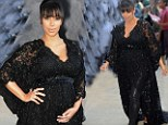 She's dazzling! Kim Kardashian dresses her bump in stunning lace as she makes her mark at screening of her big first movie