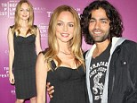 Adrian Grenier can't resist cuddling up to Heather Graham as actress sizzles in little black dress at Tribeca Film Festival bash