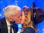 Anderson Cooper and Madonna kissed on stage at the 24th annual GLAAD Media awards on Saturday