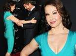 Eyes front, Gerard! Ashley Judd's plunging body contour dress wows co-star at Olympus Has Fallen premiere