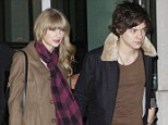 Acrimonious: Taylor, pictured with Harry Styles at the beginning of December last year, broke up with the boyband heart-throb in the new year