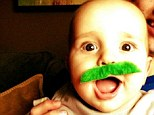 Sweet St Paddy's Day tweet! Giuliana and Bill Rancic's son Duke shows some Irish spirit in green moustache