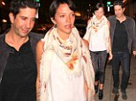 He's such a charmer! David Schwimmer treats his glittering wife Zoe Buckman to romantic dinner for two