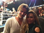 Still going strong! Adrienne Maloof tweets picture of herself and Sean Stewart getting cosy at boxing match