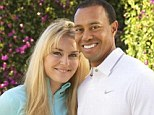 New romance: Tiger Woods and Lindsey Vonn posed up together for the first time as they confirmed their relationship on Monday