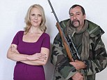 Odd-couple: Avid hunter Pascal and vegetarian Samantha could not be more different