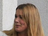 Evidence: Joss Stone leaves Exeter Crown Court today after telling the jury she had no idea of an alleged plot to kill her