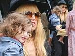 Mama's little cowboy: Hollywood stylist Rachel Zoe dresses her son Skyler in Western costume