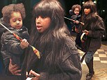 Roll up, roll up: Jennifer Hudson enjoys a night at the circus with her son David Jnr