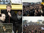 Passionate: David Hasselhoff is campaigning to preserve the Berlin Wall. He is pictured speaking to a crowd in Berlin yesterday