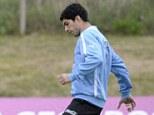 International duty: Luis Suarez is presently with the Uruguay international squad